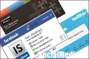 Визитки для социальной сети