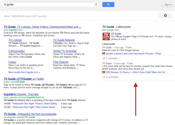 Место контекстной рекламы в Google заняли ссылки на страницы Google+