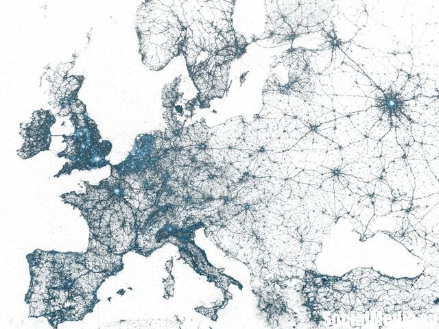 Твитографическая карта мира