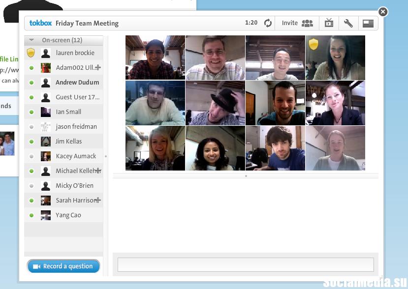 TokBox — профессиональный сервис для общения в режиме реального времени, в том числе организации онлайн-встреч, бизнес-конференций и пр