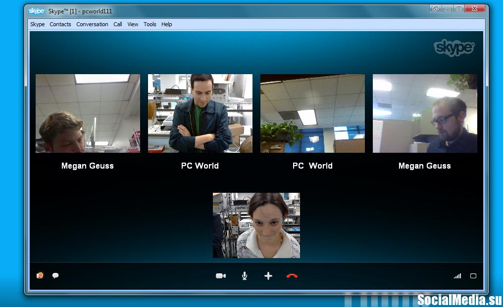 Как в скайпе сделать видео конференцию